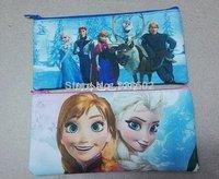 Free Shipping 24pcs Frozen Pencil Frozen Princess Functional Bag Gift Zipper Bag Stationery for Kids Gift Wholesale