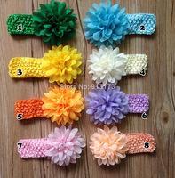 fashionable hairwear children hairband 16 colors very cute chiffon flowers