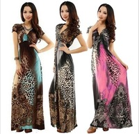 new 2014 fashion Slim yards deep V dress pairs of classical elegance dress long section of thin ice silk dress