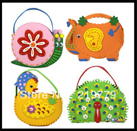 Make handmade handbags DIY Bags Kids Arts & Crafts children handbags for Girls Birthday Gift