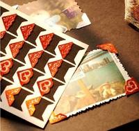 Wholesale(480 pcs/lot) Black and red paper corner for photo protector Photo album decoration