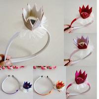 Cute Princess Headwear Hair Accessories Crown Hairbands Children Kids Girl Baby Gift Headband  1406HE005