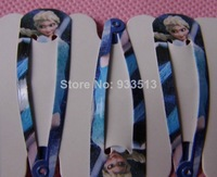 Baby Factory Price Free Shipping 100pairs =200pcs Frozen Elsa Anna Girl Headwear Hair Accessory Wafer Side-knotted Clip Hairpin