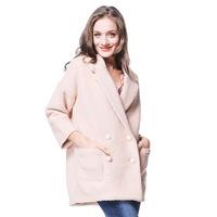 Woolen outerwear overcoat female 2014 winter women's medium-long slim cotton lapel woolen overcoat warm wool coats candy color