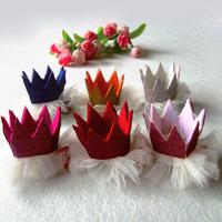 6 colors Girls Crown Hair Clip Hair Accessories Children Accessories Baby Hair Clip  1406HC003