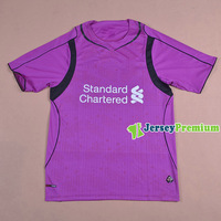 LIVERPOOL Goalkeeper HOME Purple 2014/2015 Soccer jersey football kits Uniform Mignolet Shirts