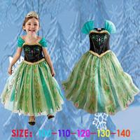 Retail! Frozen Dress Elsa & Anna Summer Dress For Girl 2014 New Hot Princess Dresses Vestidos De Menina Children Clothing