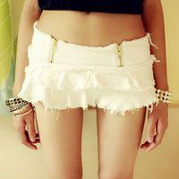 Fringed Pantskirt Hot Pants Sexy Culottes Tassels Mini Skirt Shorts Low Waist