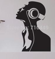 I love music black wall mural sticker decal