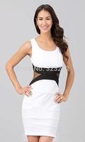 European Stylish Ladies Brief Casual Dress Sleeveless Women Elegant Dress Sundress M L