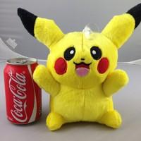 mini soft stuffed toys Pikachu plush doll cartoon Pokemon figures kids toys, new arrival 18 cm plush toys for baby gift, 12 pcs