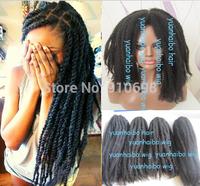 "Stock!! Aliexpress hot selling 20"" folded #1b kinky twist marley braid cheap synthetic hair free shipping"