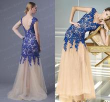 Free Shipping Newest Design Mermaid V Neck V Back Beaded Floor Length Tulle Skirt Turkish Style