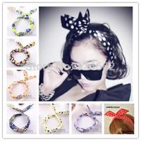 Free Shipping head bands for women 100PCS wholesale  Cute Rabbit headwear headbands hair accessories girls headband 96colors