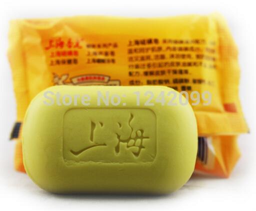 Low price ! Shanghai sulfur soap, skin care/clothes sterilizing eliminate acne skin axillary body odor restrain skin oils(China (Mainland))