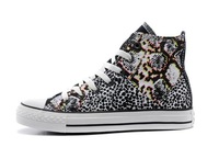 2014 New Arrival latest popular joker leopard print patchwork canvas shoes fashion casual shoes