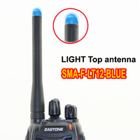 Blue light top antenna SMAF-LT12-BLUE antenna 145/435MHz Dual Band SMA-F connector Antenna for walkie talkieZT-V180,ZT-V68