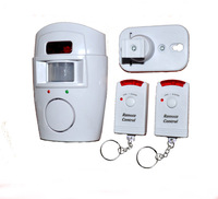 Hot selling Wireless IR Infrared Motion Sensor Alarm Security Detector Home System with 2 Remote Control HT8963 Free drop ship
