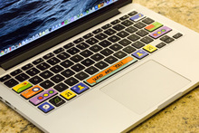 Free shipping Removable cute who are you waterproof and dustproof keyboard stickers for computer mackbook air