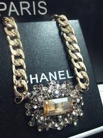 For necklace rectangle pendant gem full rhinestone crystal fashion elegant gualian gentlewomen