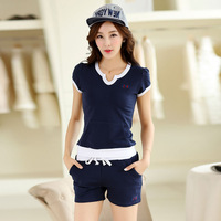 New fashion women's clothing in the summer of 2014 the leisure suit han edition big yards short sleeve shorts
