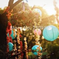 Free shipping 10pcs mixed 2 sizes(10cm,20cm)  Chinese round paper lantern , Wedding/Party/Nursery Decor, Baby shower Decoration