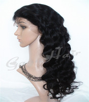 Freeshipping Glueless Front Lace wigs Brazilian Virgin Human Hair With Baby Hair Around for Black Women Grade AAAAAA Wholesale