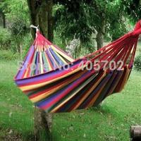 Double hammock camping survival hammock Parachute cloth outdoor or indoor 260*150cm 1pcs
