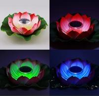 garden decoration light -Lotus pond hydroplaning light solar lamp  lotus lamp lights hydroplaning -free shipping
