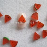 RC-185-1 200pcs/bag Cute Decoration Resin Watermelon Resin Decoration Nail Art Decorations