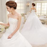 Train wedding dress 2014 spring slim tube top wedding dress formal dress bandage