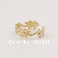 Leaf Ring Jewelry Gift Cosplay Crown Ring Ring jewelry Free Ship Birthday Gift color gold/silver/rose gold