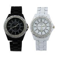 2014 New Fashion Women Ladies Female Rhinestone Fashion White Quartz Watches With Beads Sterling Retro Analog Wristwatches