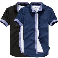 2013 spring summer fashion slim hot men's shirts new short sleeve shirts men 5 color M-XXXXL