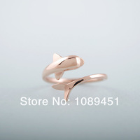 New Accessories song dolphin ring finger ring 5g Best Gifts Birthday Gift color gold/silver/rose gold