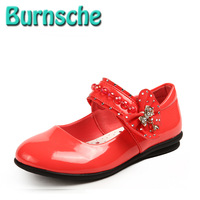 2014 new children's shoes girls princess shoes dance black red white