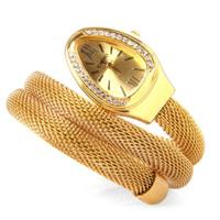 Fashion Women Analog Quartz Watches Snake-shaped Design Steel Dial steel Band 2014 Lady New Luxury Bracelet Wristwatch U324