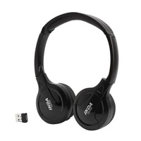 2.4GHz wireless headphone headband style earphone with microphone and mini USB dongle for Windows and MAC