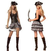 Free Shipping 2014 New  halloween pirate suit  Dropshiping sexy  Caribbean costumes wholesale 882