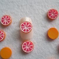 RC-185-6 200pcs/bag Cute Decoration Resin Grapefruit Resin Decoration Nail Art Decorations
