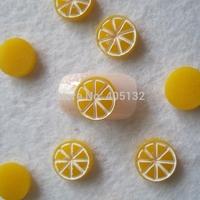 RC-185-7 200pcs/bag Cute Decoration Resin Orange Resin Decoration Nail Art Decorations