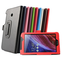 Fashion Solid Color Flip PU Leather Case For Asus FonePad 7 Case For Asus FE170CG FE7010CG Stand Cover Free Shipping