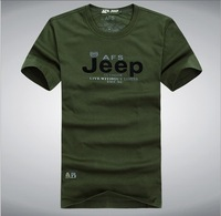 Spring 2014 AFS JEEP outerwears MAN'S Jersey printing t-shirts cotton tops full short O-Neck T-shirt streetwear