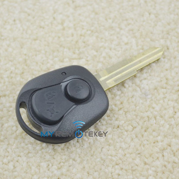 Discount Remote key case 2 button car cover blank key for Ssangyong car key SSANGYONG auto locksmith(China (Mainland))