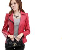 Free Shipping ! 2014 Women Spring and Autumn Fashion PU Jackets, Female Plus Size Leather OL outwear   L XL XXL XXXL 4XL 5XL