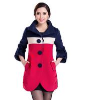 Free Shipping ! 2014 Women Fashion Mother Fashion Slim Jackets, Female Big size Autumn Elegant Long outwear   L XL XXL XXXL  4XL