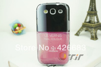New Arrival 3D TPU Back Cover LE VERNIS Nail Color Nail Polish Case For Samsung Galaxy S III I9300 S3