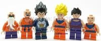 Wholesale Dragon Ball Z Figures Decool 701-706 Classic Toys DIY Building Blocks Sets Model Bricks Minifigures Toy For Children