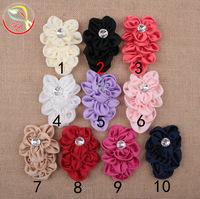 48pcs/lot quality layered flowers,baby headband accessories