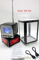 SDY-018 Nizhi Music Speaker FM radio LCD screen Bluetooth Speakers Support Micro SD/TF card Free DHL Drop Ship 50pcs Hot Sale